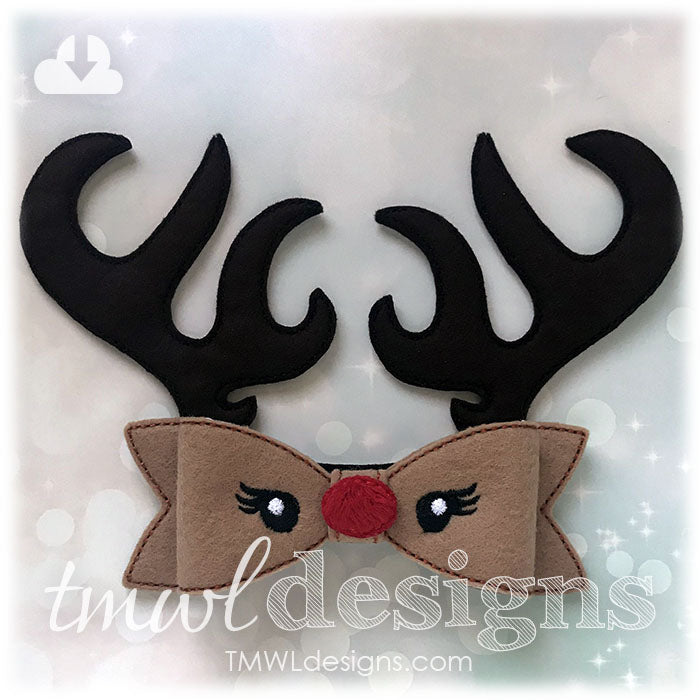 How To Make A Felt Reindeer Bow