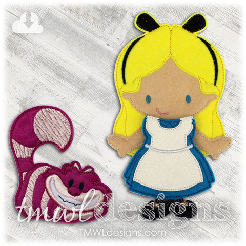 Alice in Wonderland Dress Felt Paper Doll Outfit