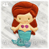 Mermaid Felt Paper Doll Outfit