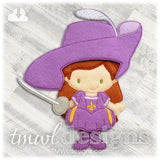 Musketeer Dress Felt Paper Doll Outfit