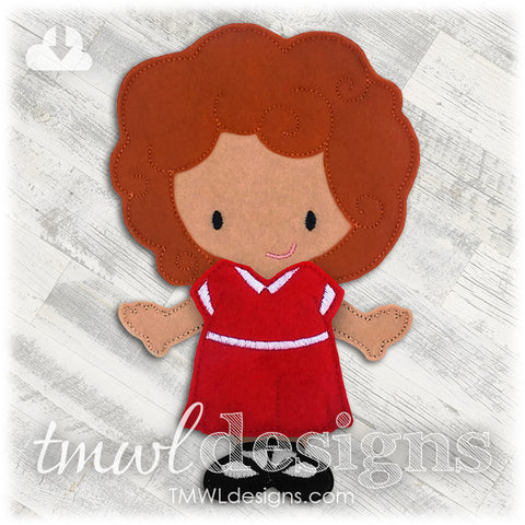 Annie Dress Felt Paper Doll Outfit