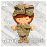Military Combat Uniform Felt Paper Doll Outfit