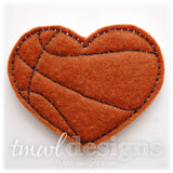 Basketball Heart Feltie