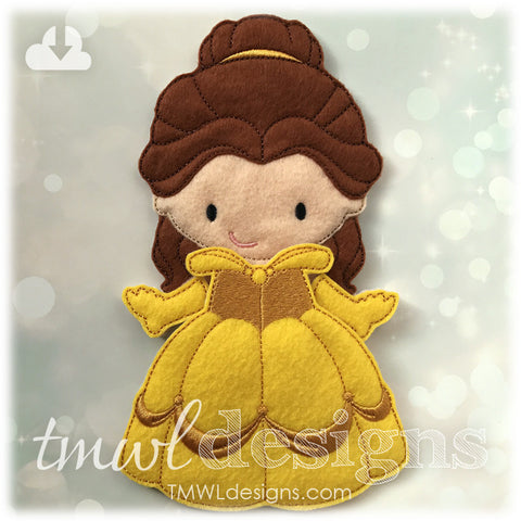 Beauty Ballgown Dress Felt Paper Doll Outfit