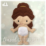 Beauty Felt Paper Doll
