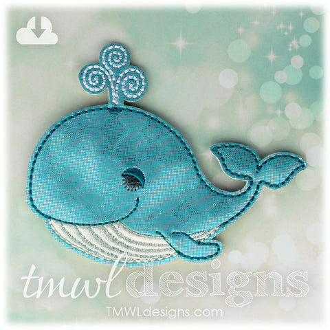 Sleepy Blue Whale OS Feltie
