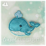 Sleepy Blue Whale Feltie
