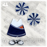 Cheer Uniform Felt Paper Doll Outfit