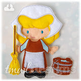 Broom & Bucket Cleaning Felt Paper Doll Accessories
