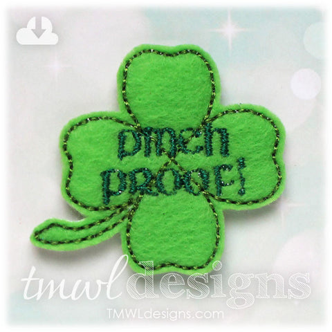 Pinch Proof Clover Feltie