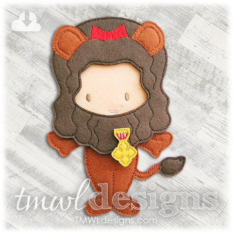 Cowardly Lion Felt Paper Doll Outfit
