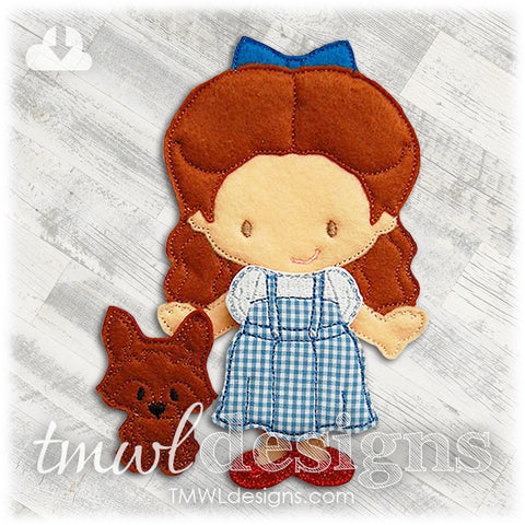 Dorothy Dress Felt Paper Doll Outfit