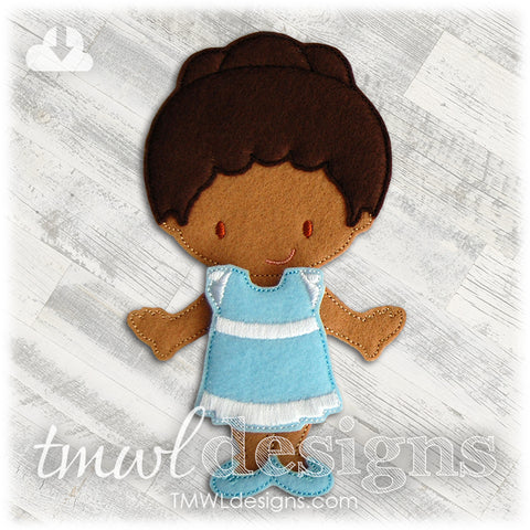 Sundress Felt Paper Doll Outfit