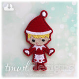 Shelved Scout Christmas Elf Girl Feltie