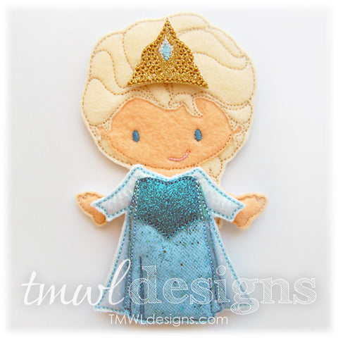 Frost Dress Felt Paper Doll Outfit