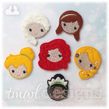 Emoji Princess Feltie Set B