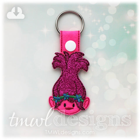 Flower Hair Troll Key FOB