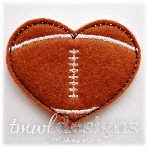 Football Heart Feltie