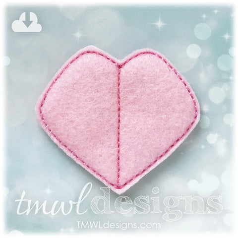 Fantasy Tournament Heart Badge Feltie