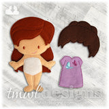 Amelie Wig Felt Paper Doll Accessory - Fundraiser