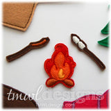 Hot Dog & Marshmallows Felt Paper Doll Accessories