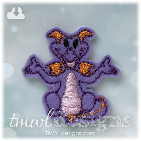 Purple Imagination Dragon Feltie