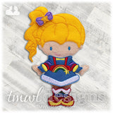 Space Rainbow Dress Felt Paper Doll Outfit