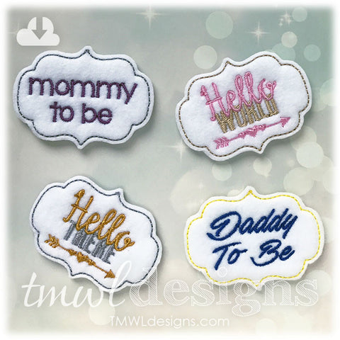 Family Phrases Feltie Set