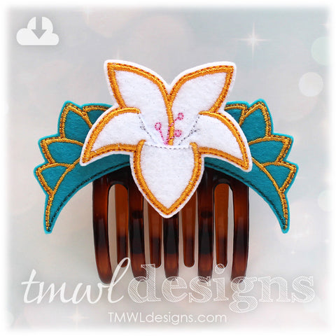 Lotus Flower Hair Clip Comb