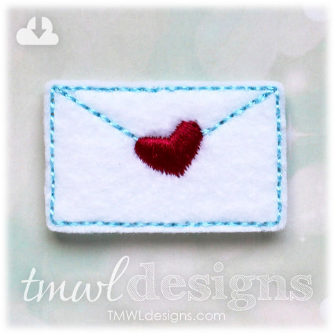 Love Letter Envelope Feltie