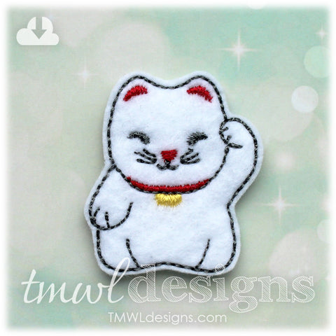 Maneki Neko Cat Feltie