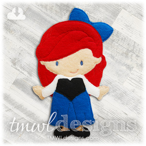 Corset Dress Felt Paper Doll Outfit