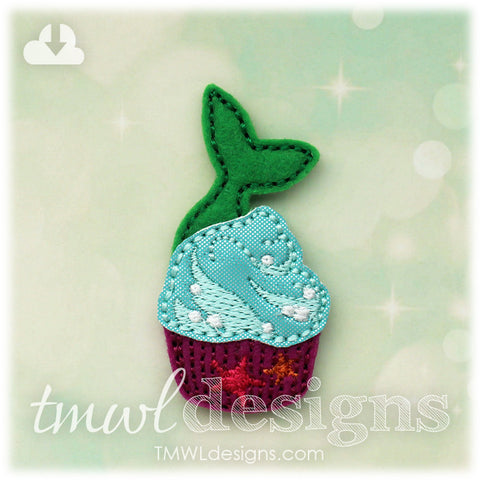 Mermaid Tail Cupcake Feltie
