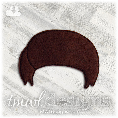 Michael Wig Felt Paper Doll Accessory - Fundraiser