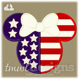 Mrs Patriotic Mouse Appliqué