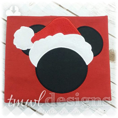 Mr Christmas Mouse Appliqué