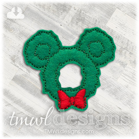Mr Mouse Christmas Wreath Feltie