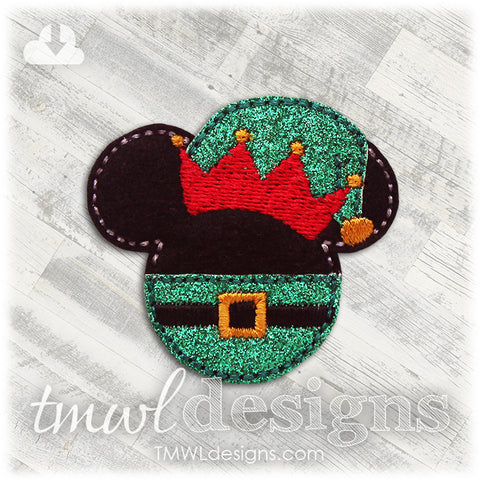 Mr Mouse Christmas Elf Feltie