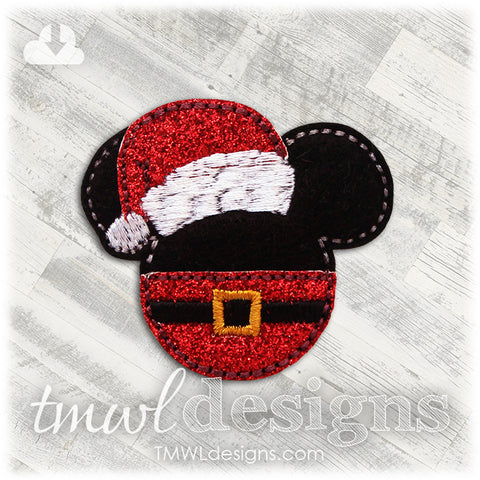Mr Mouse Santa Claus Feltie