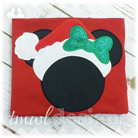 Mrs Christmas Mouse Appliqué