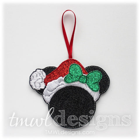 Mrs Christmas Mouse Ornament