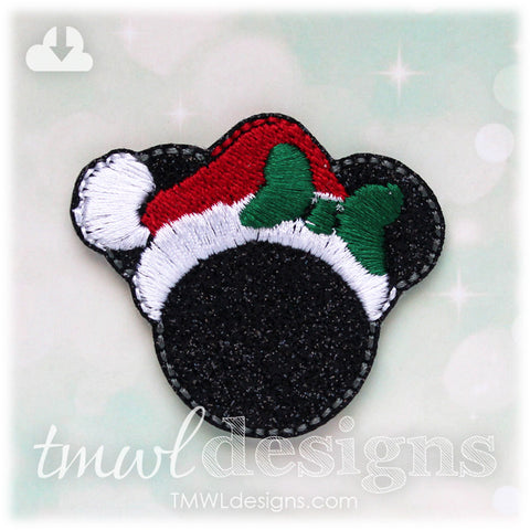 Mrs Christmas Mouse Feltie