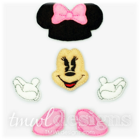 Mrs Mouse Bow Parts