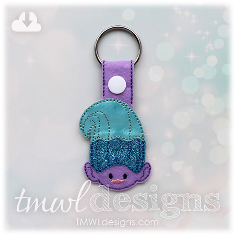 Multicolor Hair Troll Key FOB