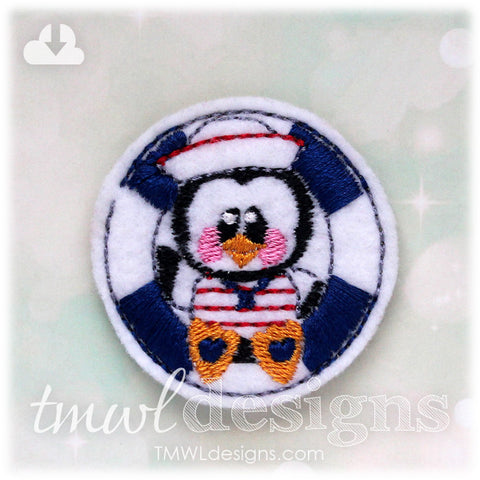 Penguin Sailor Feltie