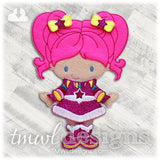 Space Pink Dress Felt Paper Doll Outfit
