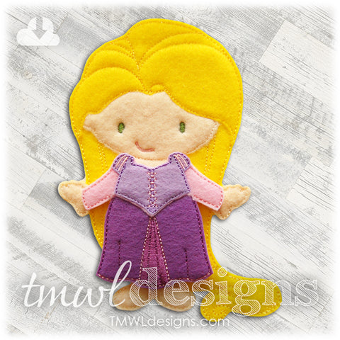 Tower Dress Felt Paper Doll Outfit