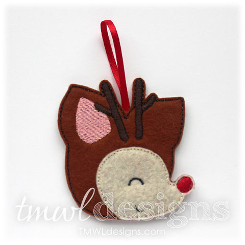 Rudolph Head Profile Ornament