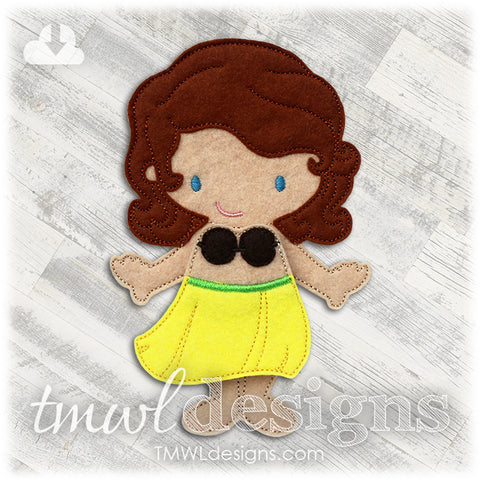 Hula Skirt Felt Paper Doll Outfits