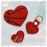 Basketball Heart Key FOB